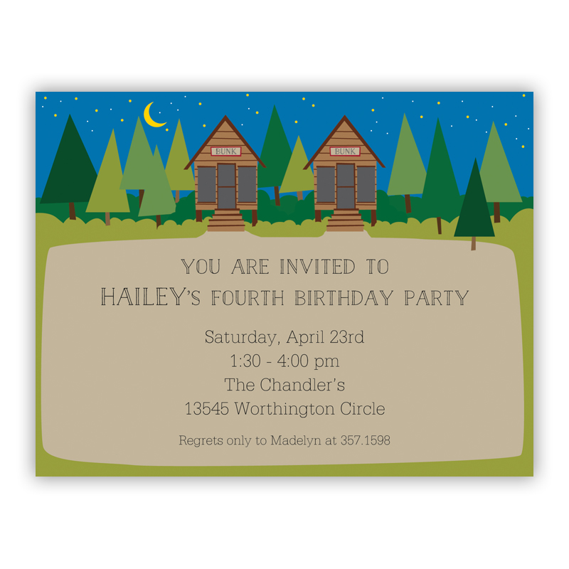 Bunk Small Flat Invitation or Announcement