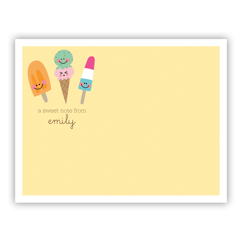 Icy Treats Small Flat Stationery Note