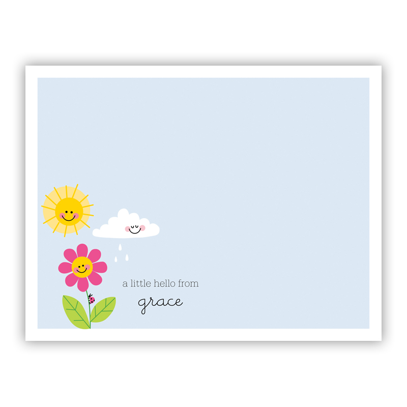 Happy Daisy Small Flat Stationery Note