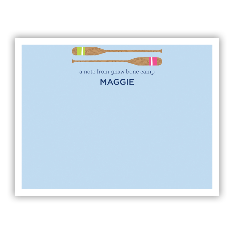 Stacked Oars Pink Small Flat Stationery Note