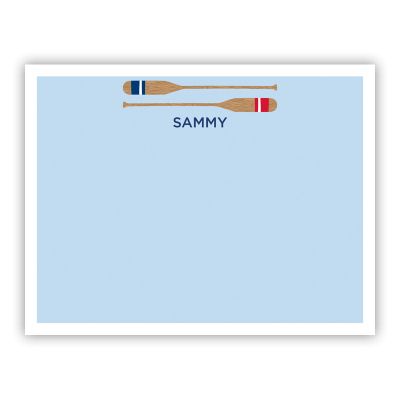Stacked Oars Red Small Flat Stationery Note