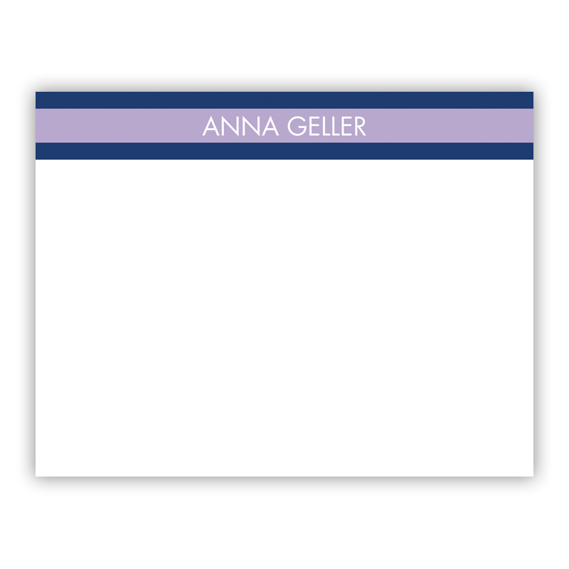 Top Stripe Lilac Small Flat Stationery Note
