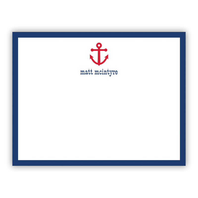 Anchor Repeat Small Flat Stationery Note