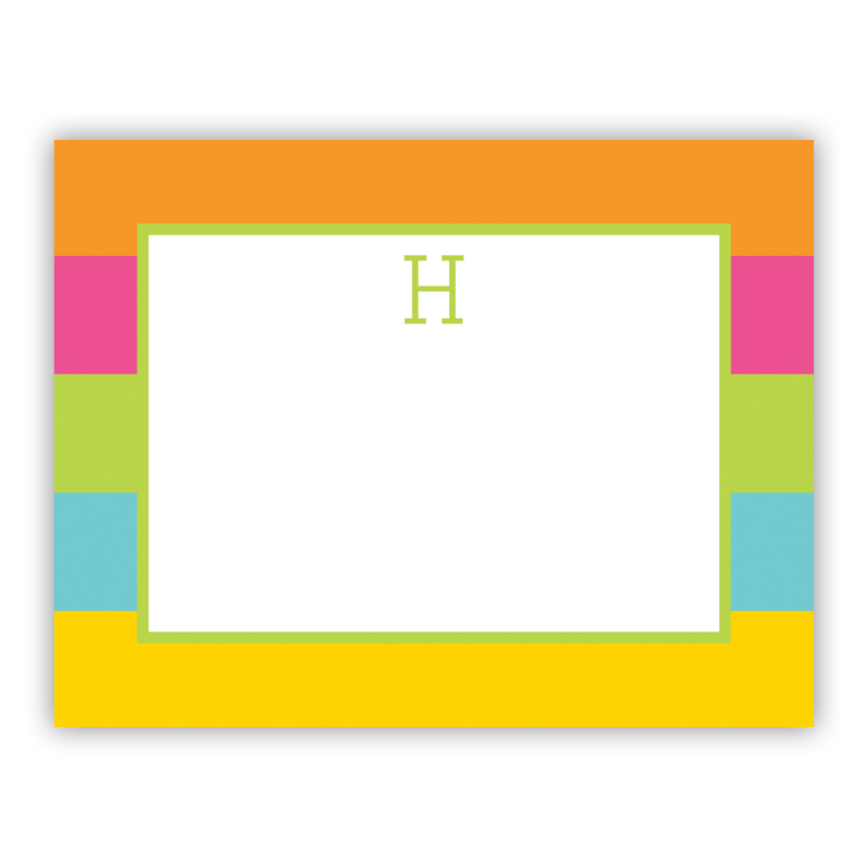 Bold Stripe Small Flat Stationery Note