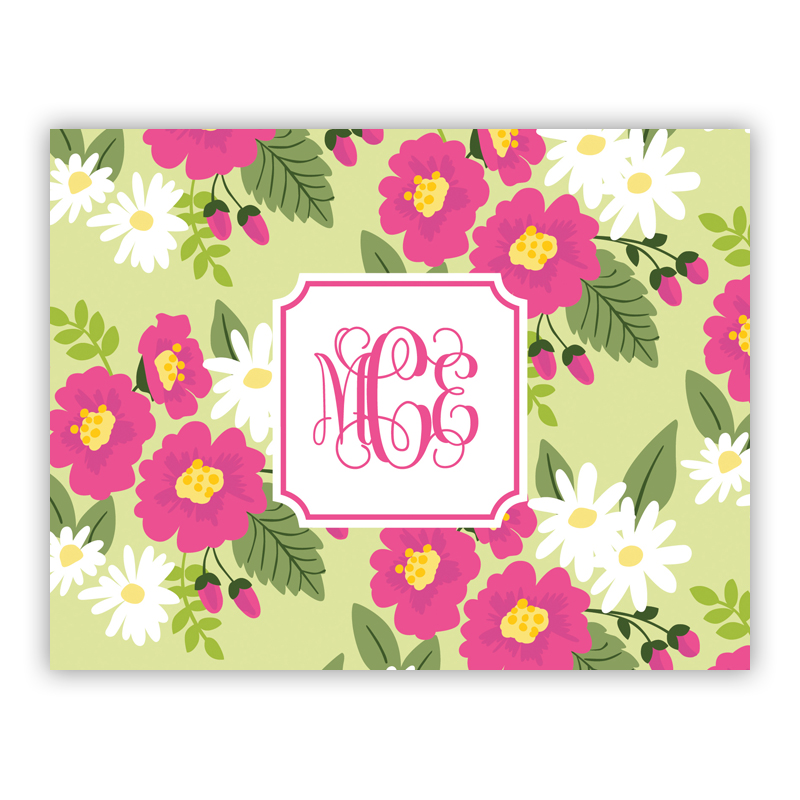 Lillian Floral Bright Stationery, 25 Foldover Notecards