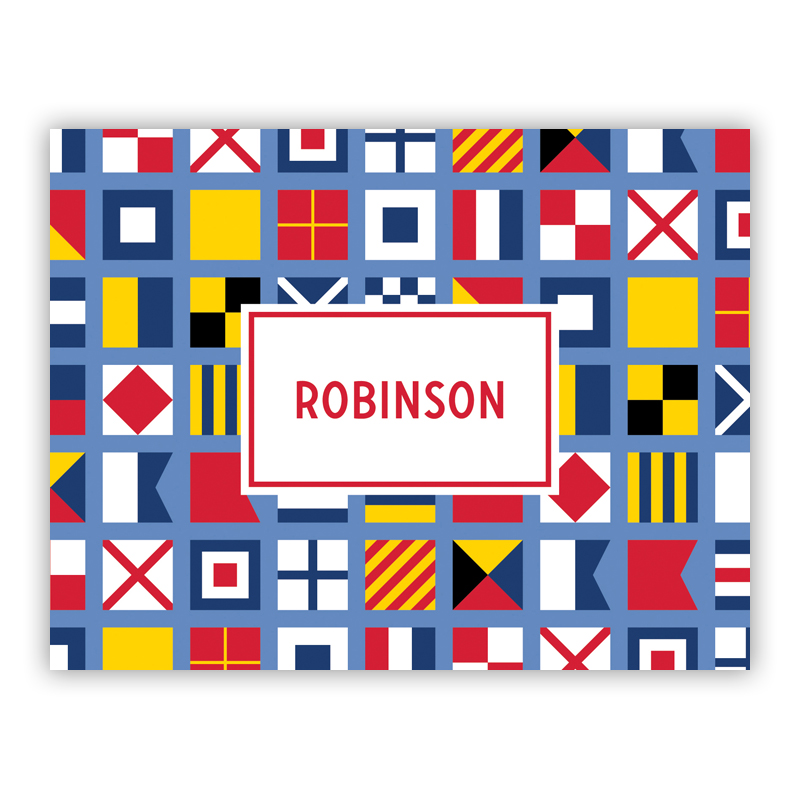Nautical Flags Stationery, 25 Foldover Notecards