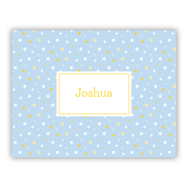 Twinkle Star Light Blue Stationery, 25 Foldover Notecards