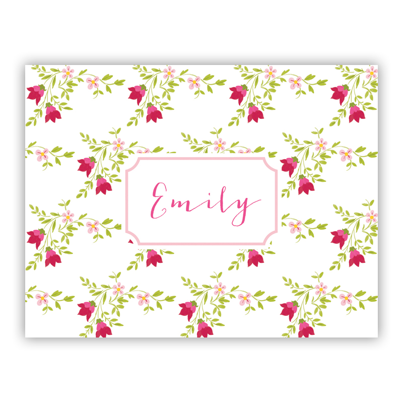 Camryn Floral Stationery, 25 Foldover Notecards