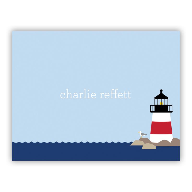 Lighthouse Stationery, 25 Foldover Notecards