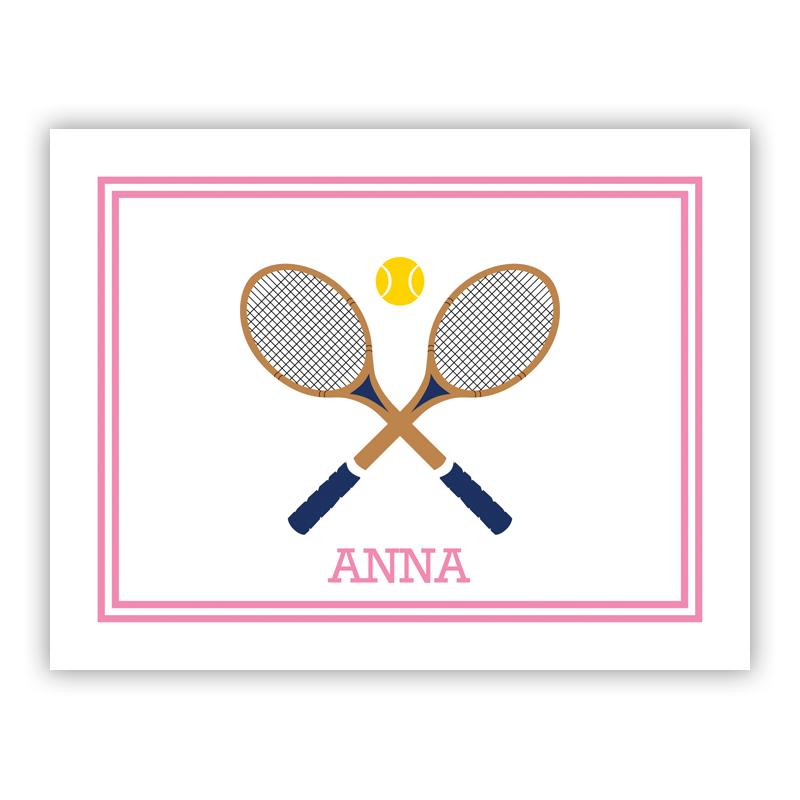 Love Tennis Stationery, 25 Foldover Notecards