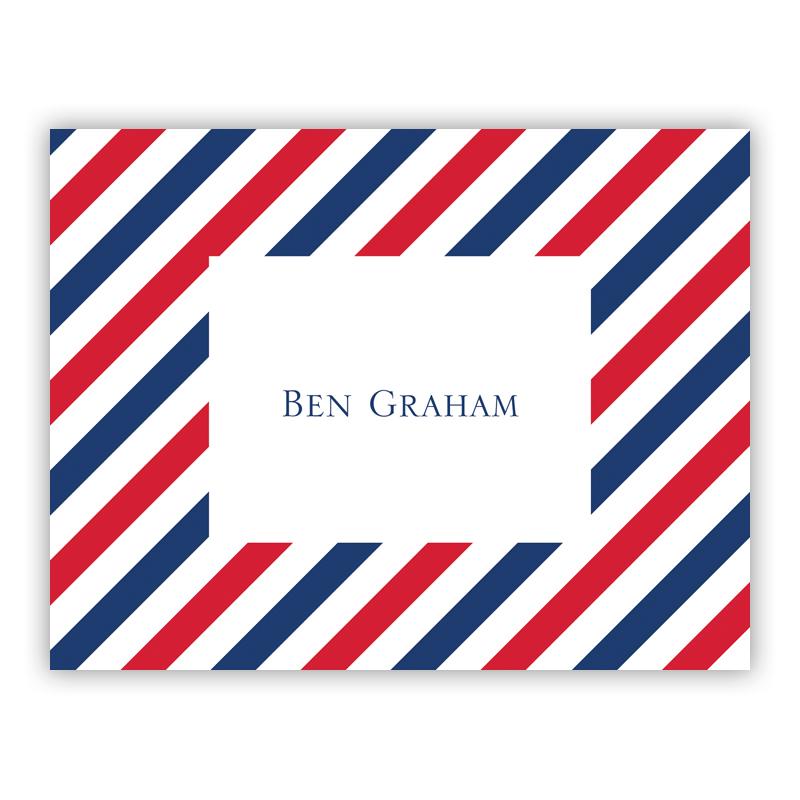 Via Red & Blue Stationery, 25 Foldover Notecards