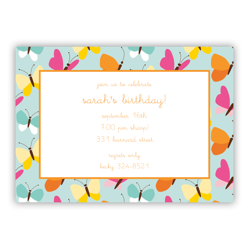 Flutter Teal Invitaton or Announcement,  set of 25