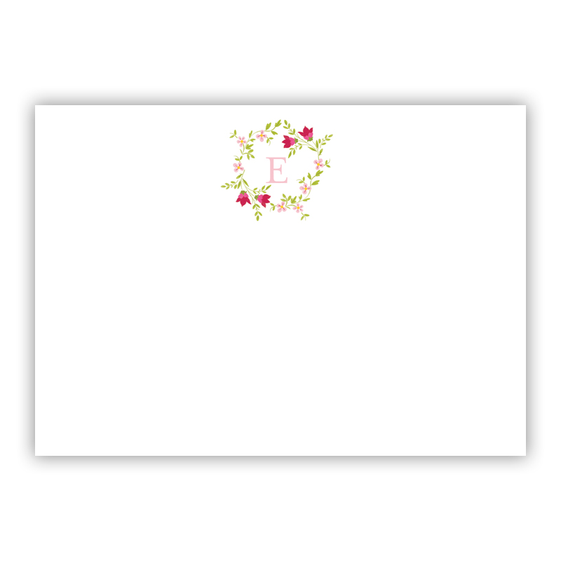 Camryn Floral Wreath Invitaton or Announcement,  set of 25