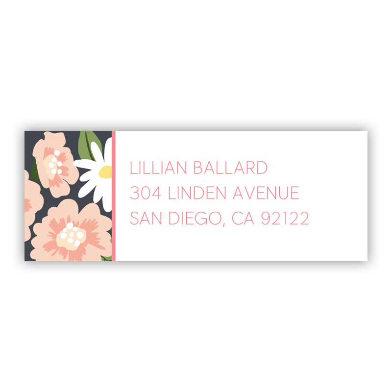 Lillian Floral Return Address Label, 90 labels