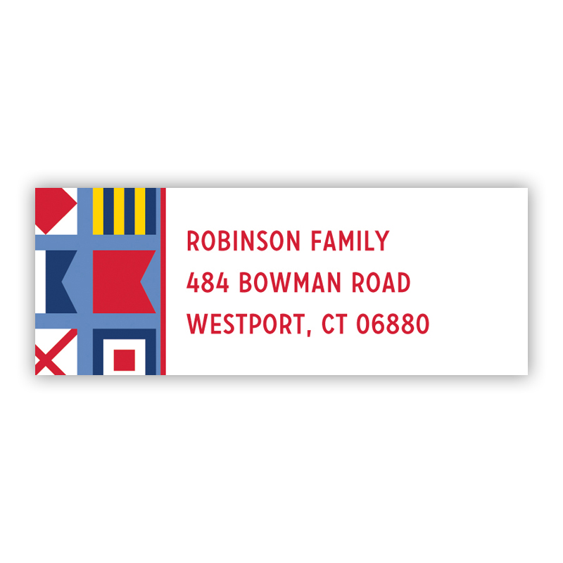 Nautical Flags Return Address Label, 90 labels