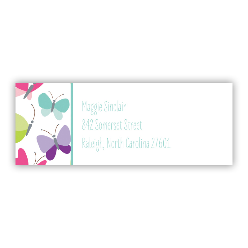 Flutter Return Address Label, 90 labels