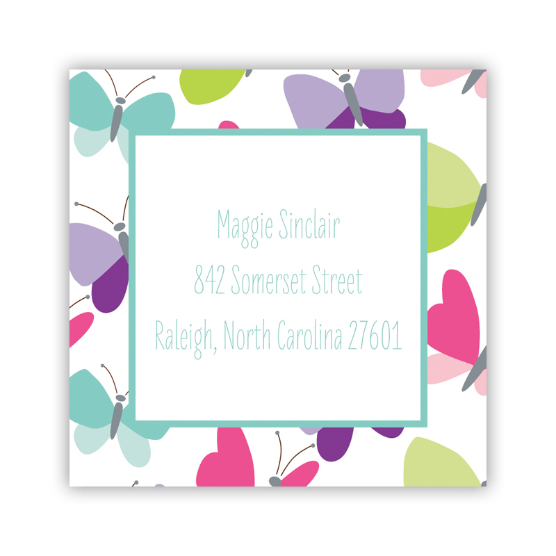24 Personalized Flutter Square Stickers