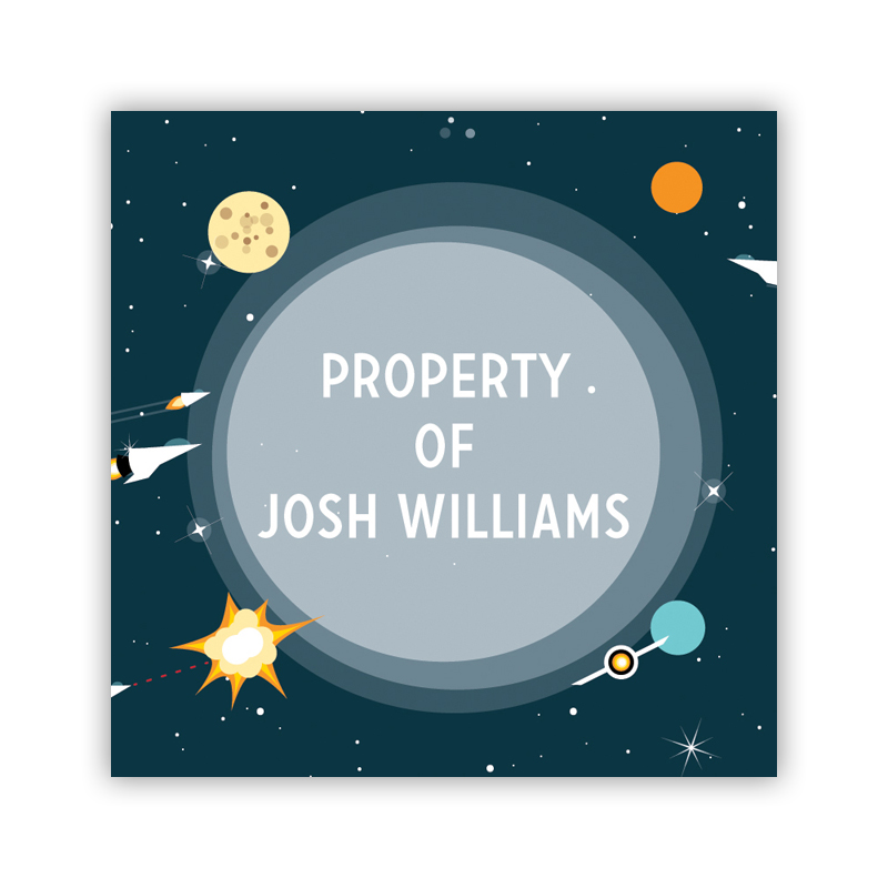 Galaxy 24 Personalized Square Stickers