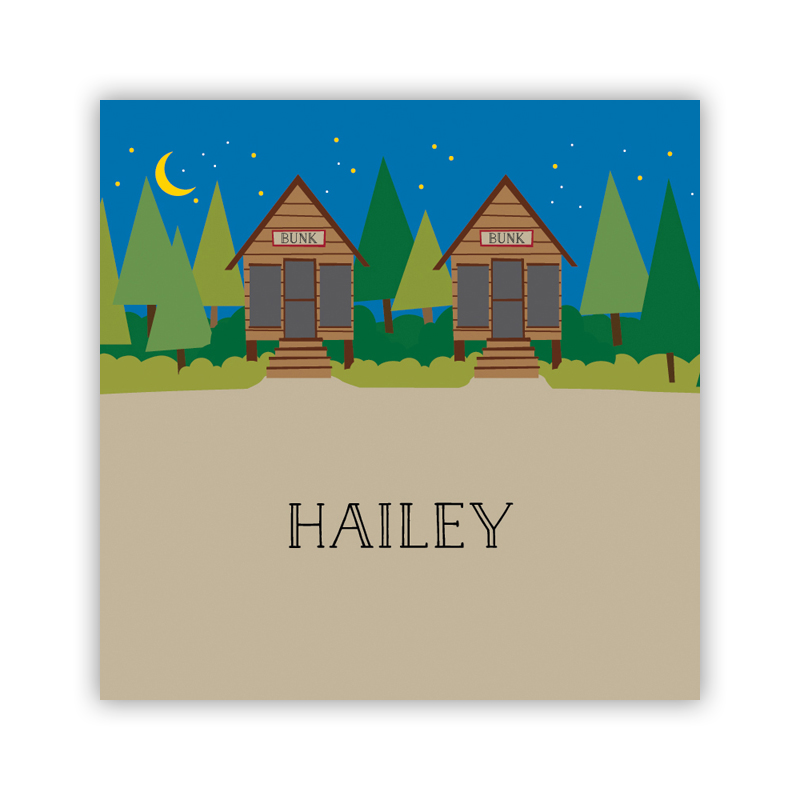 Bunks 24 Personalized Square Stickers