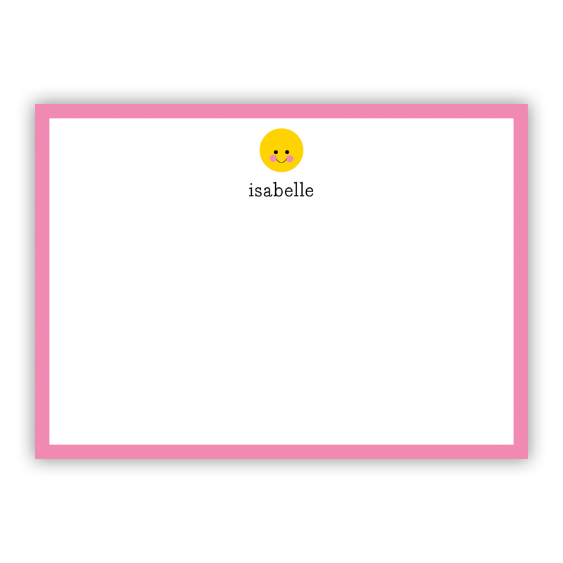 Smiley Flat Stationery, 25 Notecards