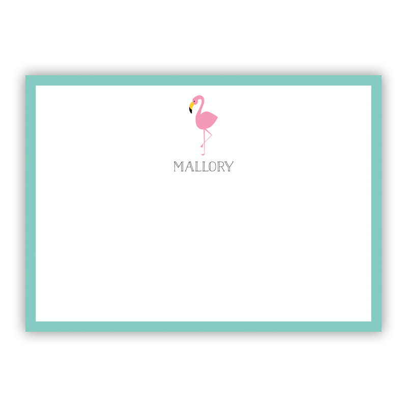 Flamingo Flat Stationery, 25 Notecards