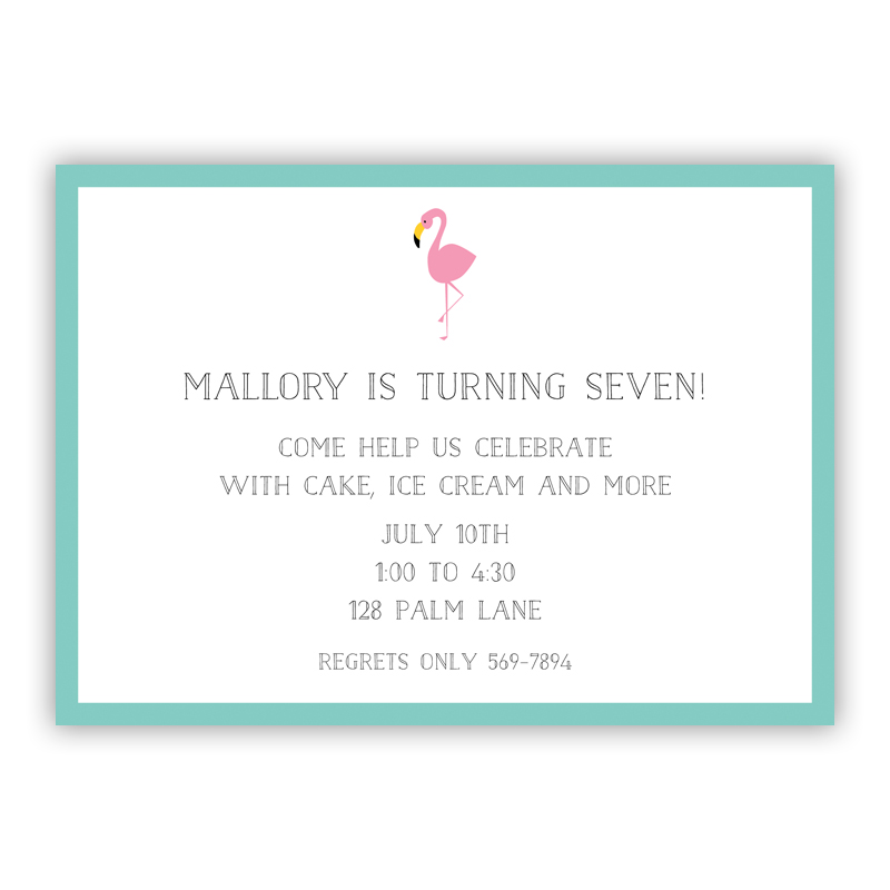Flamingo Invitation or Announcement, sets of 25
