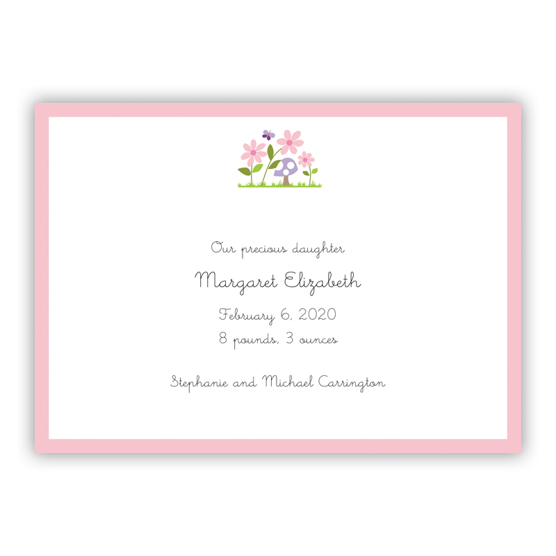 Bloom Invitation or Announcement, sets of 25