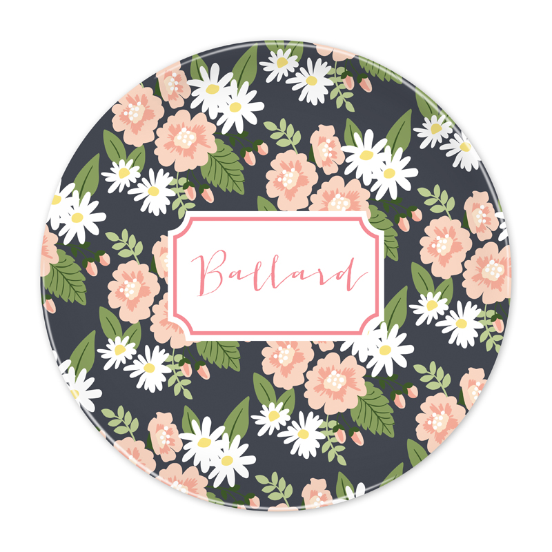 Personalized Lillian Floral 10 inch Plate
