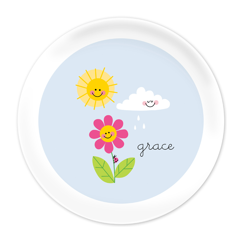 Personalized Happy Daisy 10 inch Plate