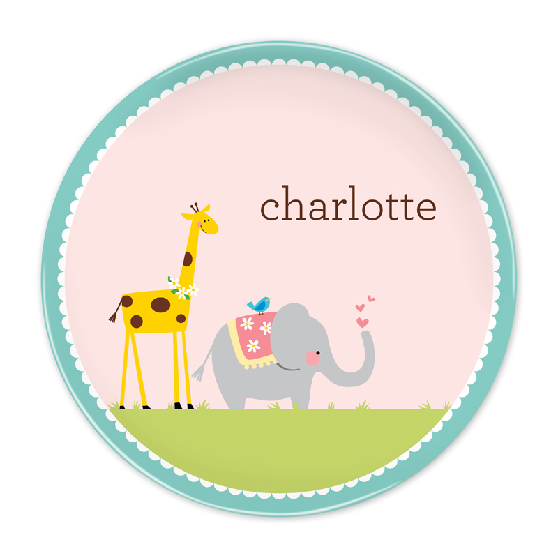 Personalized Animal Parade 10 inch Plate