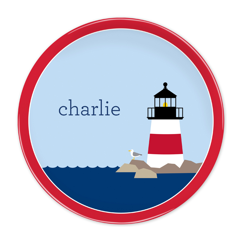 Personalized Lighthouse 10 inch Plate