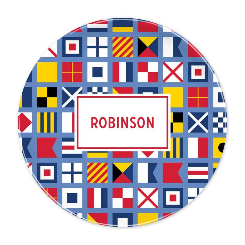 Personalized Nautical Flags 10 inch Plate