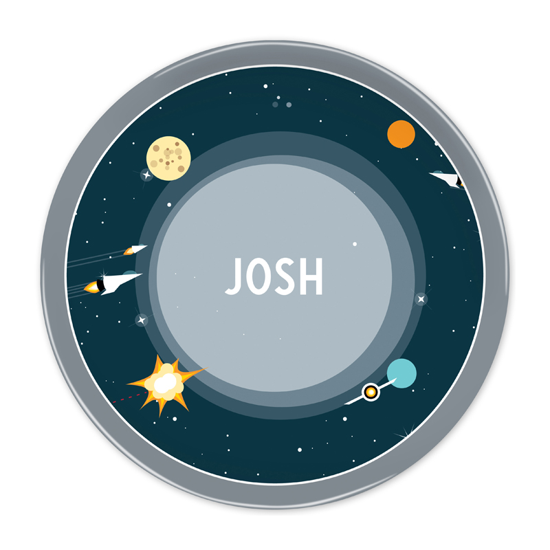 Personalized Galaxy 10 inch Plate