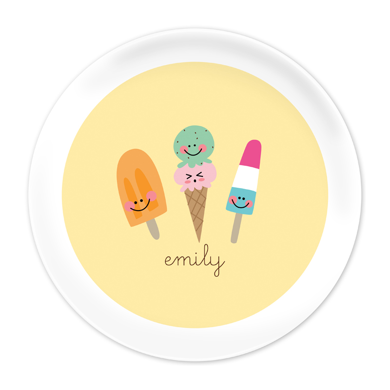 Personalized Icy Treats 10 inch Plate