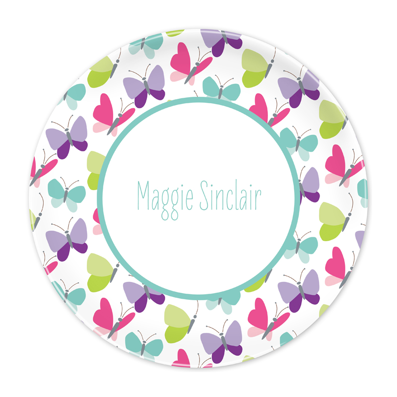 Personalized Flutter 10 inch Plate