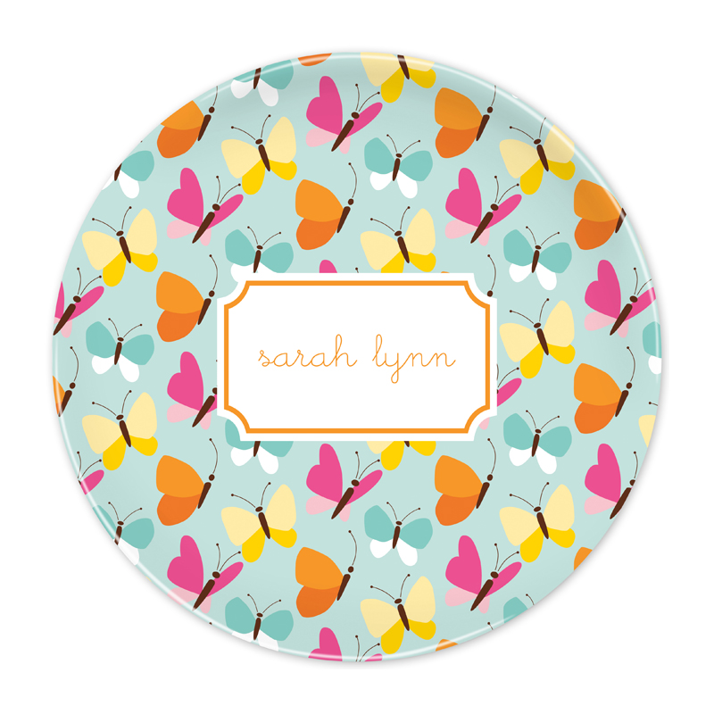 Personalized Flutter Teal 10 inch Plate