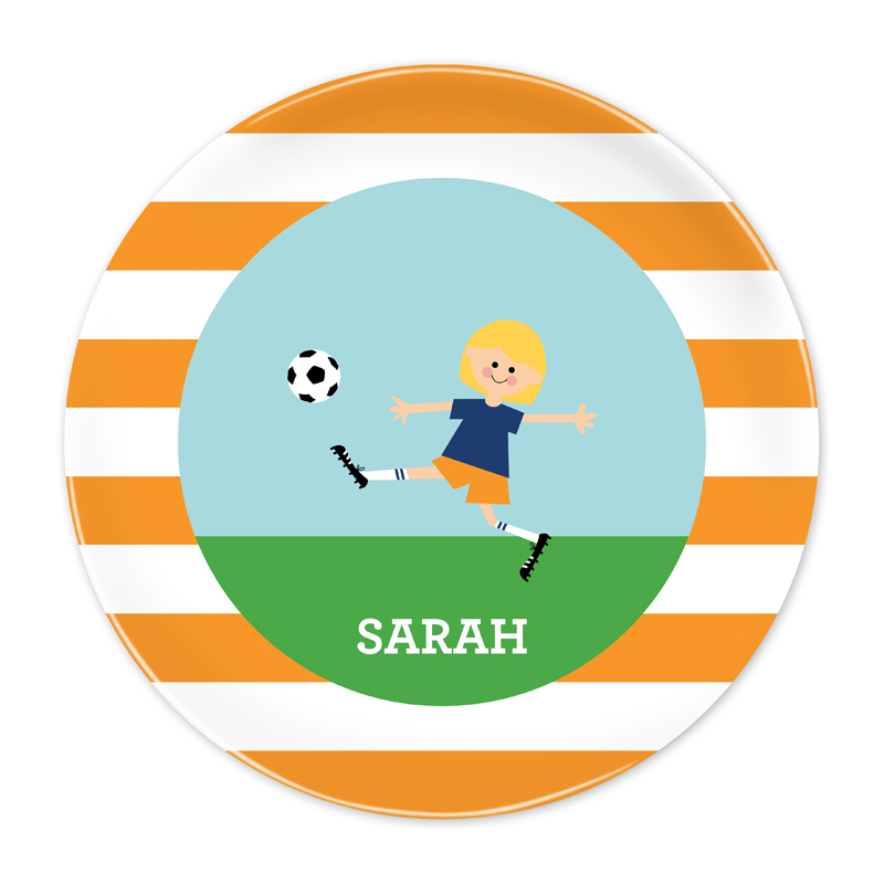 Personalized Soccer Player Customized Kid 10 inch Plate