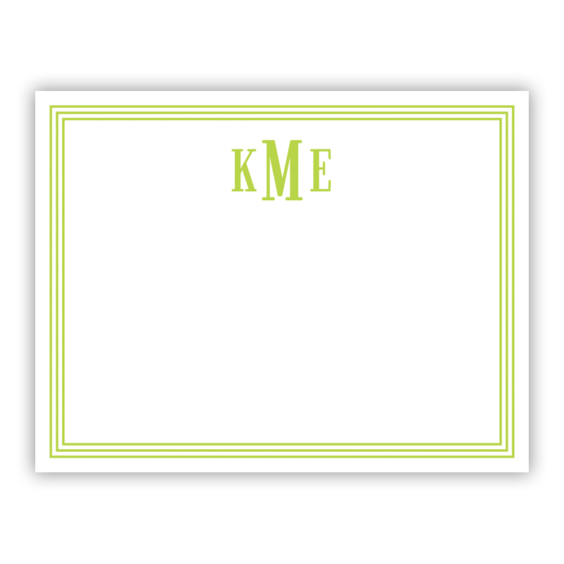 Grand Border Lime Small Flat Stationery Note