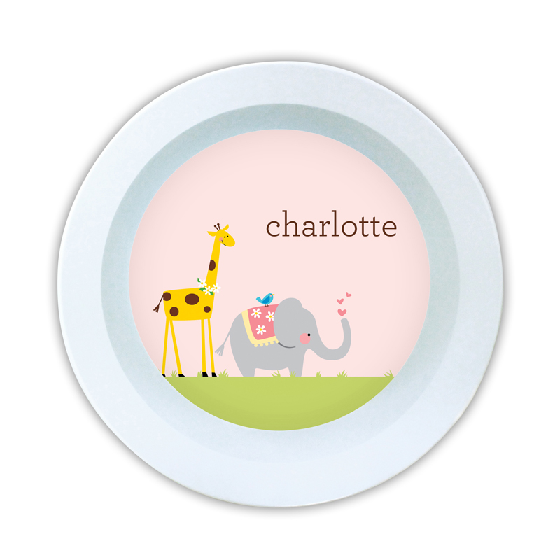 Animal Parade Personalized 5 inch Round Bowl