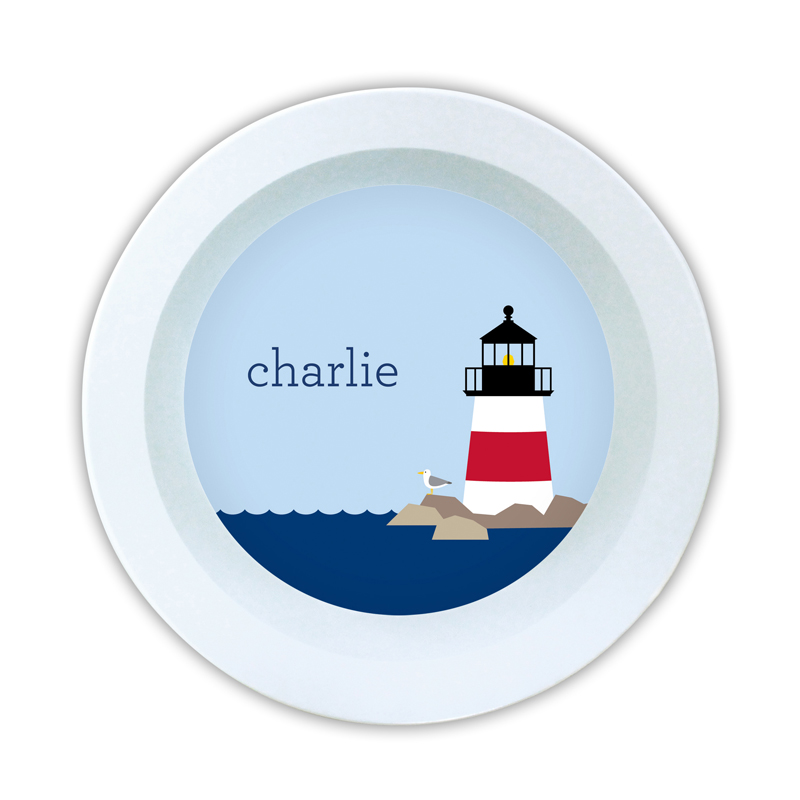Lighthouse Personalized 5 inch Round Bowl
