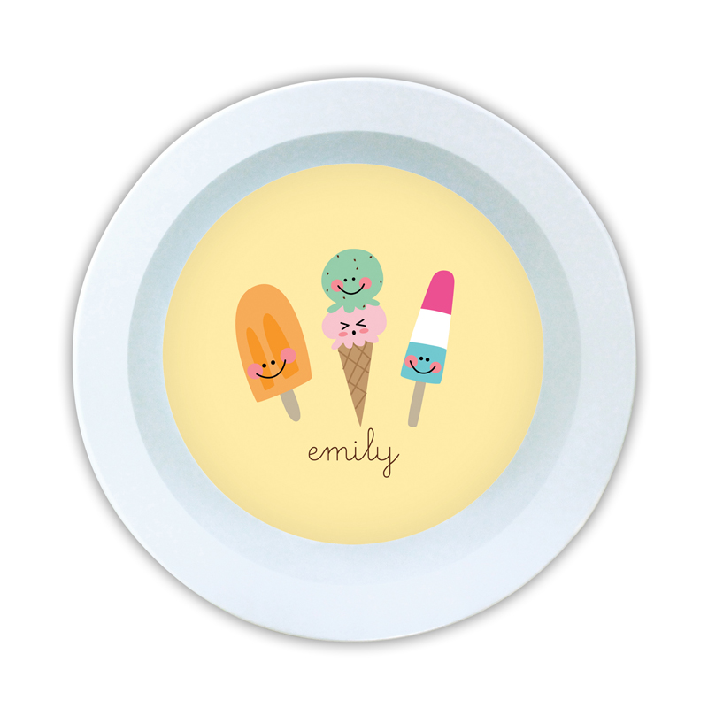 Icy Treats Personalized 5 inch Round Bowl