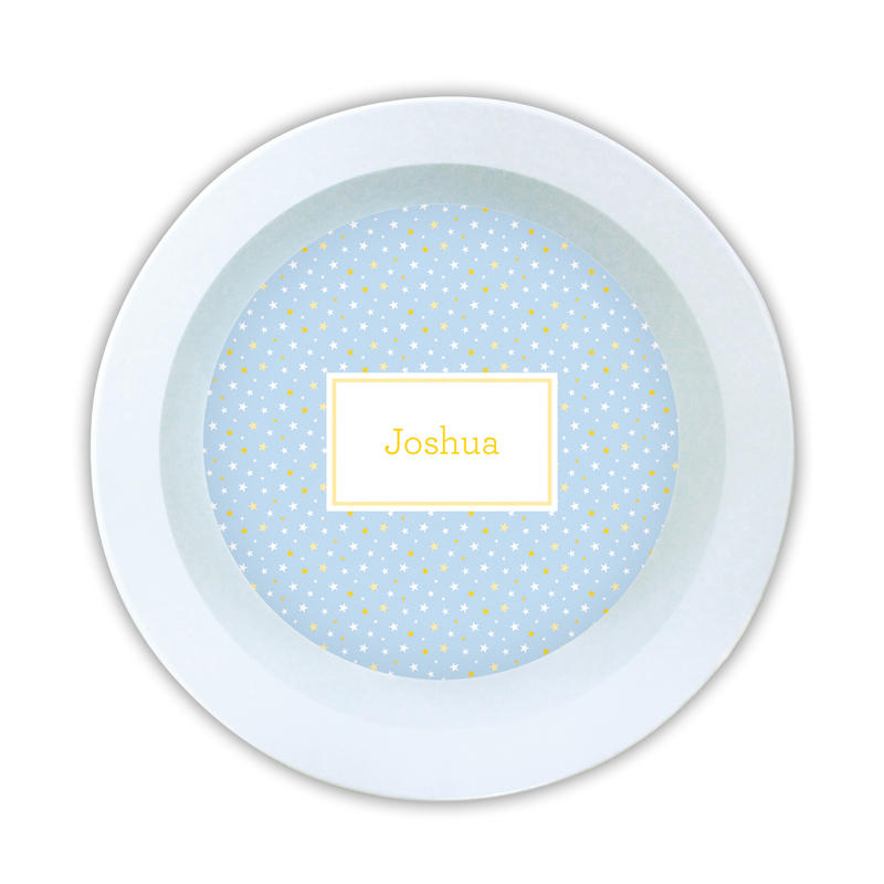Twinkle Star Light Blue Personalized 5 inch Round Bowl