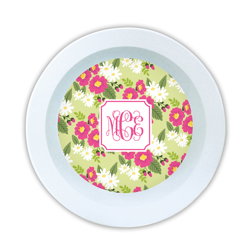Lillian Floral Bright Personalized 5 inch Round Bowl