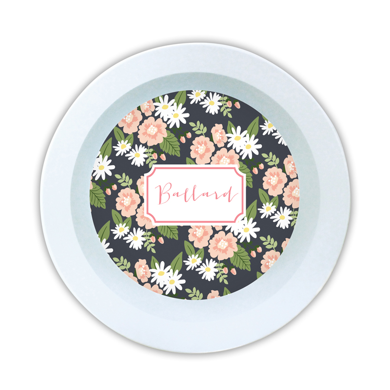 Lillian Floral Personalized 5 inch Round Bowl