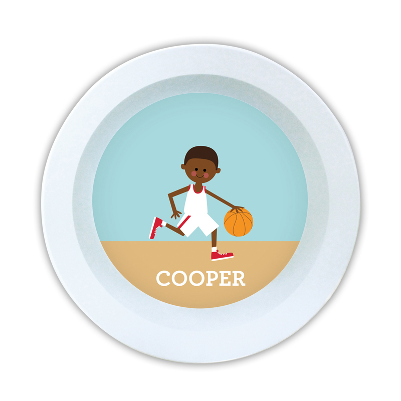 Basketball Player Customized Kid Personalized 5 inch Round Bowl