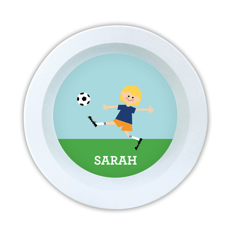 Soccer Player Customized Kid Personalized 5 inch Round Bowl