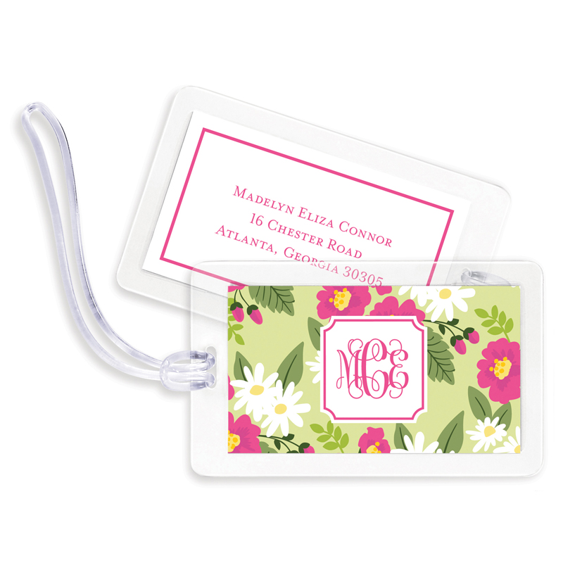 Lillian Floral Bright Bag Tags, Set of 4