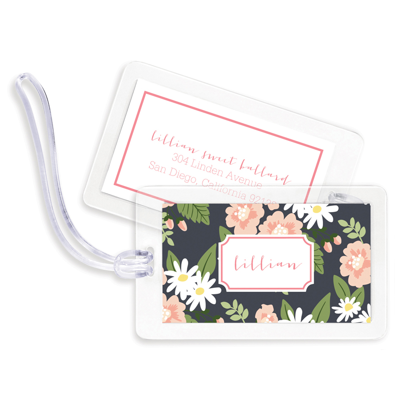 Lillian Floral Bag Tags, Set of 4