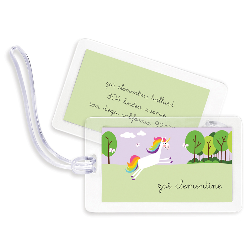 Unicorn Bag Tags, Set of 4