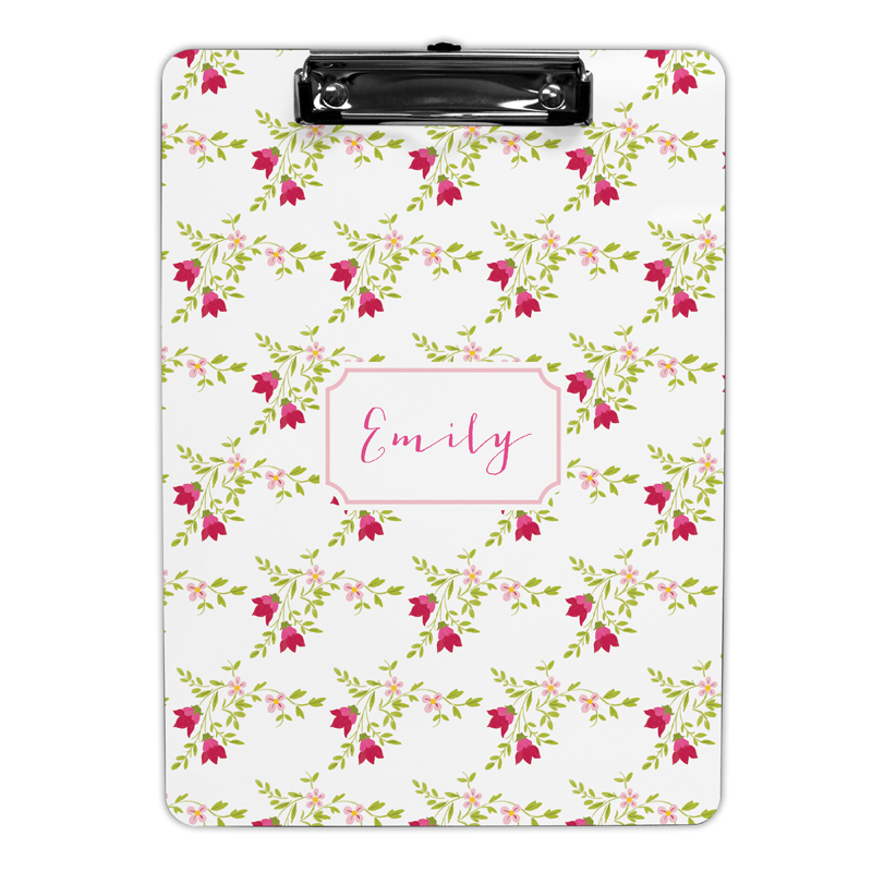 Camryn Floral Clipboard, Personalized